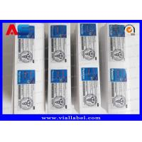 China Pharma Lab Peel Off 10ml Vial Labels Metallic Printing For Bodybuilding Steroids Injection Vials on sale