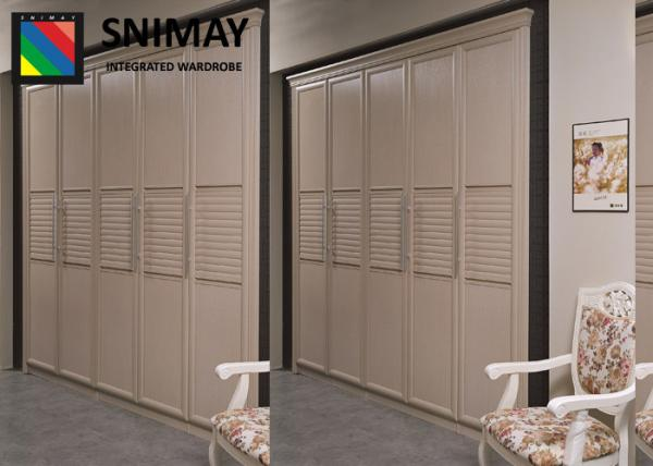 Quality Fashion Bamboo Wardrobe Sliding Door / Aluminum Replacement Wardrobe Doors for sale