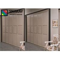China Fashion Bamboo Wardrobe Sliding Door / Aluminum Replacement Wardrobe Doors wholesale