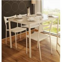 Buy cheap Modern Glass dining table White Steel Frame DTSG-07 from wholesalers