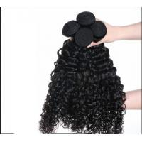 China Custom Long Indian Curly Human Hair For Lady , Silky Straight Human Hair on sale