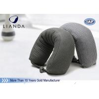 Gray Microbeads Car Neck Rest Pillow With Lycra Cover , 100% Polyester Materials