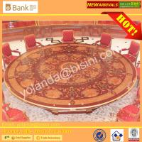 Buy cheap (BK0109-0013T)Luxurious Royal Round Dining Table &Chairs for 12 People/Gorgeous Gilded Brass Dining Set with Handmade from wholesalers