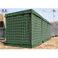 Buy cheap Galfan Coated Geotextile Linded Welded Hesco Defensive Barriers Military Green from wholesalers