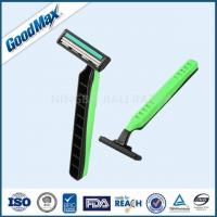 China Green / Black Twin Blade Disposable Razor Anti - Drag Blades For Face Body Underarm wholesale