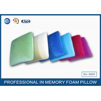 Square Shaped Traditional Memory Foam Pillow With Velvet And Comfort Pillowcase