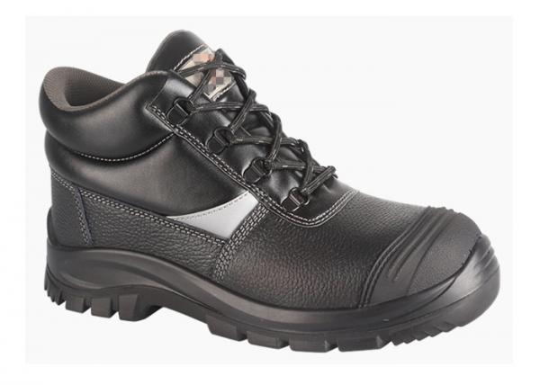 Quality Full Grain Leather PPE Safety Boots Oil Proof Steel Toe Cap With PU Out Sole for sale
