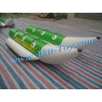China Six person green inflatable banana boat for sale wholesale