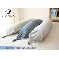 U Shape Memory Foam Pillows / Travel Microbead Neck Pillow With Lycra Cover