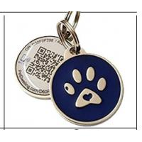 China Various Color Round Shape Stainless Steel Pet Id Tags Custom Metal Logo Anti - Bite Structure on sale