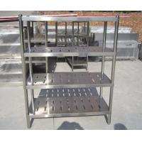 China Customized Commercial Restarant / Supermarket Stainless Steel Display Racks Light duty structure wholesale