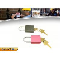 China Plastic Cover Aluminimum Alloy Colour Plated Padlock with stainless shackle on sale