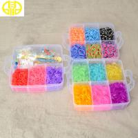 China Newest Style Rainbow Loom Rubber Band Making Kit With Mixed Colors Bands on sale