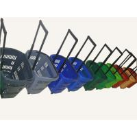 China Multiple Plastic Rolling Trolley Shopping Basket With Wheels For Grocery / Supermarket wholesale