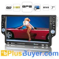 "China Piranha - 7"" 1 DIN Detachable Car DVD Player with GPS Navigation on sale"
