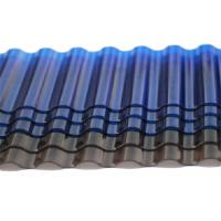 China Tinted Corrugated Plastic Sheets , Solar Polycarbonate Corrugated Roof Panel on sale