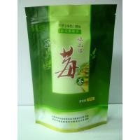 China Custom Green Value Packing Stand Up Reclosable Plastic Bags With Notch wholesale