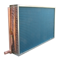 China CE 1/4HP Air Fan Louvered Fin Heat Exchanger Hydrophilic 8 Rows wholesale