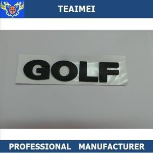 China 130 X 25 Mm Black Golf Badge Custom Custom Car Emblems Letters ABS Plastic Car Emblem wholesale
