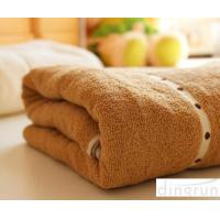 China Thickening / Widened Plain Colored Pure Cotton Bath Towel For Adults 100 * 180cm wholesale