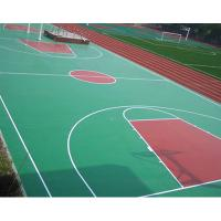 China Synthetic Outdoor Rubber Flooring , Workout Room Flooring With Marking Line on sale