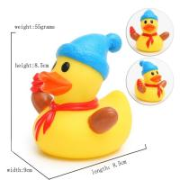 China Eco - Friendly Children Toy Collectible Rubber DucksChristmas Ornament7cm Height wholesale
