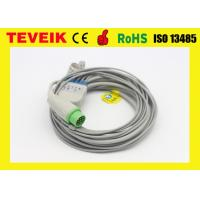China Biolight 12ft ECG cable for patient monitor 5leads ,snap ,round 12pin IEC wholesale
