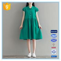 China Fashion Loose Style Casual Women Plus Size Dresses Fat Girls Clothing on sale