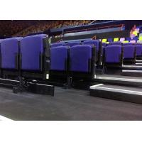 China Cinema Upholstered Indoor Bleacher Systems , Audience Systems Seating Fixed To Floor / Wall wholesale