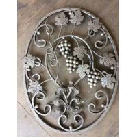 China Wrought Iron Elements/ Ornaments/parts  for balusters and gates decorative -- Cast iron grapes/ cast iron leaves wholesale