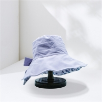 China Female Wide Brim Fishing Bucket Hat With Big Bowknot wholesale