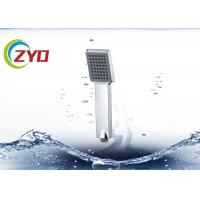 China Plastic Water Conserving Shower Head , Flat Bathroom Shower Heads Handheld wholesale