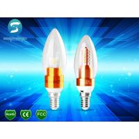 China Golden Candle Light Lamp 5W For Chandelier / Decorative Candle Light Bulbs CE on sale