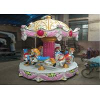 China Low Height Carousel Horse Ride With Vehicle Mounted MP3 For Young Children wholesale
