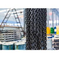 China EN818-2 G80 Lifting Anchor Chain , Alloy Steel Black Oxidation Lifting Chain wholesale