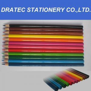 China 7 Hex. wooden color pencils wholesale