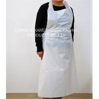 China Flat Protection White Color Disposable Medical Aprons 0.01-0.1mm Thickness wholesale