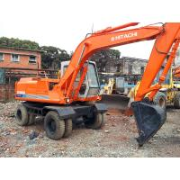 China used HITACHI EX100WD Excavator,HITACHI wheeled excavator for sale on sale
