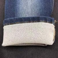 China 95% Cotton 5% Spandex Thick Knit Denim Fabric For Women on sale