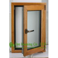 China Casement Type Wood Aluminum Window, Insulating Double Glass(Inside is natural wood) wholesale