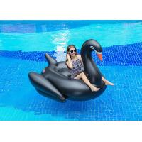 China Semicircle Inflatable Pool Floats Black Color Giant Inflatable Swan Pool Float wholesale
