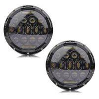 """China 7"""" Hi Lo Beam 75w Led Jeep Headlights With Aluminum Die Cast Housing wholesale"""