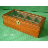 China Wooden gift box, with 8 dividers, glass window, lovely gifts or jewelry packing wholesale
