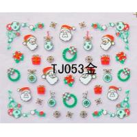 China Gold Nail Sticker 3D Nail Art Stickers Nail Accessories for Christmas wholesale
