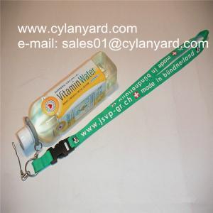 China Camping water bottle holder lanyards, hiking drink bottle straps, wholesale