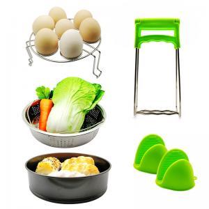 China 10pcs Various Combination Kitchen Set, Double Boiler Set Pressure Cooker Accessories Basket Pot Disk Holder Silicone Food Clip wholesale