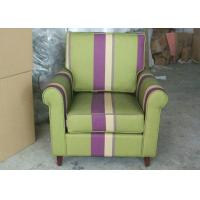 China Arm Striped Fabric Upholstered Modern Accent ChairFor Living Room wholesale