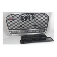 Black Car Grill Cover Chrome Front Grilles For 2016 Audi RS6 Quattro