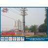 China 220KV 25FT - 45FT galvanizou o aço bonde durável poligonal Polo com conexão da sobreposição/flange wholesale