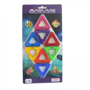 Buy cheap triângulo de 8 PCes no cartão colorido que embala telhas magnéticas da construção para brinquedos magnéticos das crianças from wholesalers